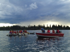 Candle lake and canoeing